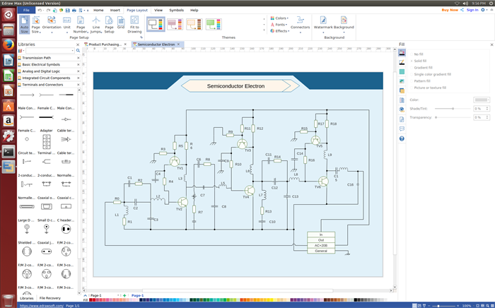 schematics diagram software for linux create schematic diagrams easily rh edrawsoft com Simple Electrical Schematic Electrical Schematics For Dummies