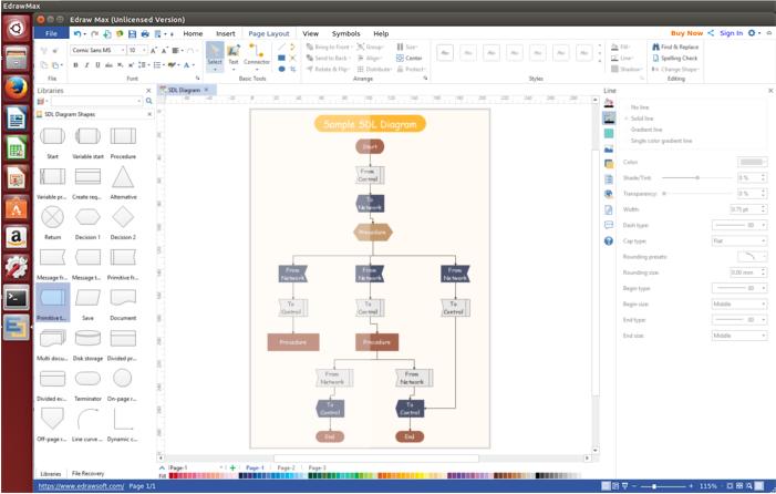 SDL Diagram Software for Linux