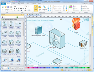 3d network diagram network diagram solutions for 3d drawing program free online