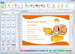 Business card software free business card templates download reheart Choice Image