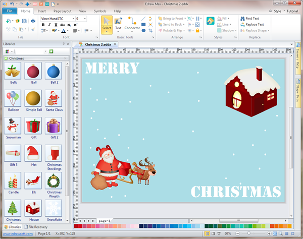 Easy to Use Christmas Card Maker and Editor: www.edrawsoft.com/christmas-card-maker.php