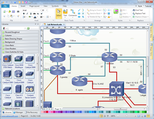 Cisco network diagram network diagram solutions cisco network diagram maker ccuart Images