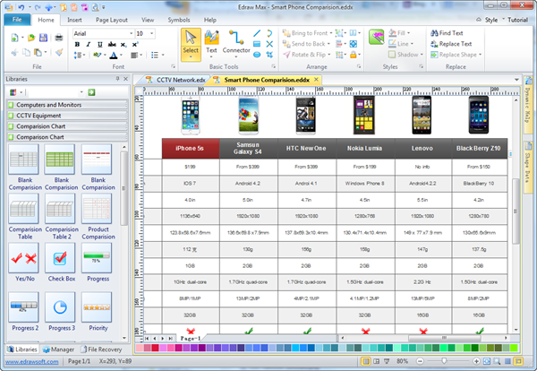 Simple Comparison Chart Maker   Make Great Looking Comparison Chart  Comparison Template Word