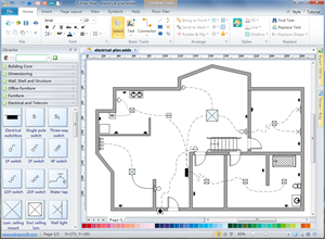Electrical and telecom plan floor plan solutions Electrical floor plan software