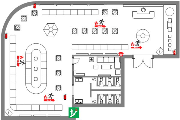 Evacuation Diagram of Exhibition Hall