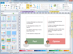 Fact and Opinion Chart Maker