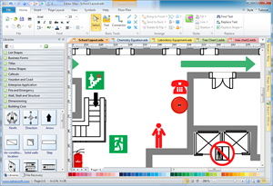 Fire and emergency layout floor plan solutions for Building layout maker