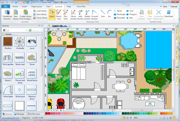 Simple garden design software make great looking garden Blueprint designer free