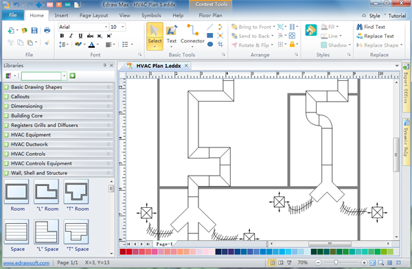 Simple hvac plan software make great looking hvac plan for Floor plan maker free no download
