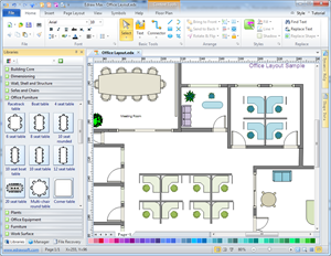 Office layout floor plan solutions for Office layout software