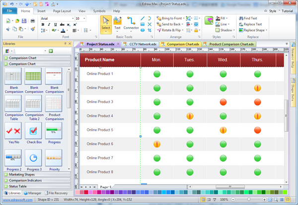 Easy Project Status Software Create Greatlooking Project Status – Project Status Report Excel