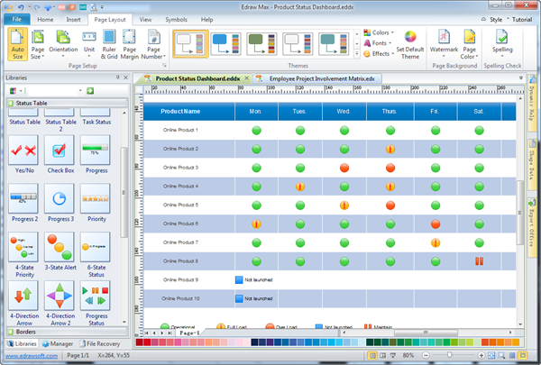 Simple Resource Task Matrix Maker Make Great Looking