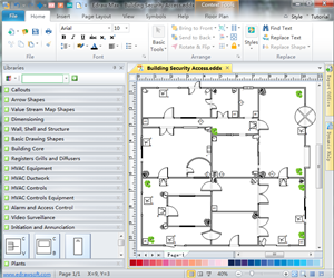 Security and access plan floor plan solutions for Blueprint creator