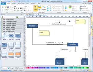 UML Collaboration Diagram Software