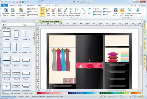 Wardrobe Elevation Diagram Maker
