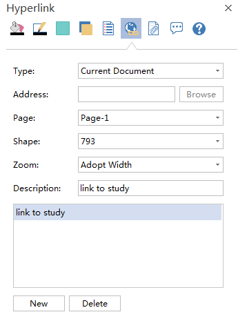 add a hyperlink to a mind map shape or page