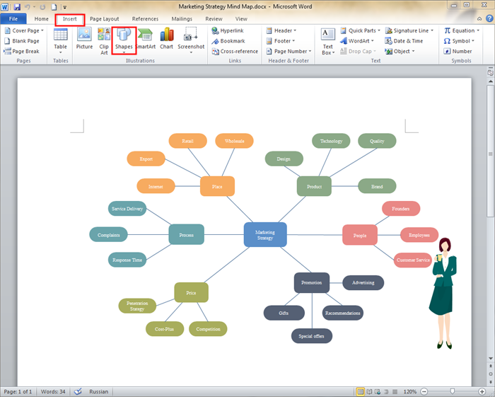 How to create a mind map on microsoft word ccuart Images