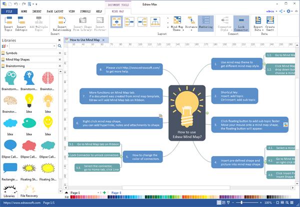 Mind Map Desktop Program Create Great Looking Mind Map
