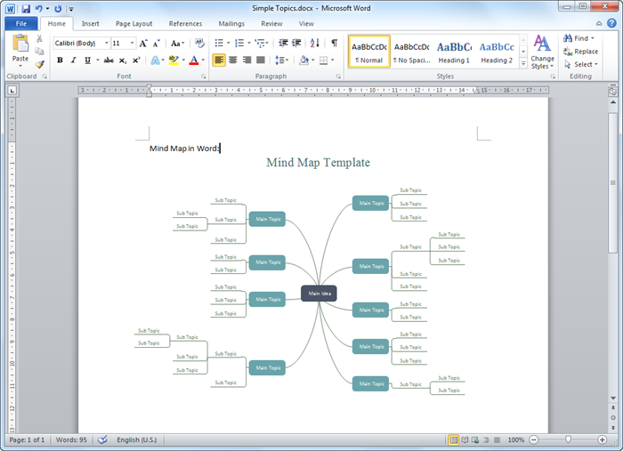 Create Mind Map for Word