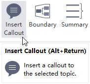 Insertar botón de Callout MindMaster
