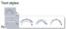 Estilo de texto de relación MindMaster