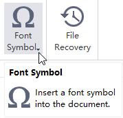 Botón de símbolos de tipo de letra MindMaster
