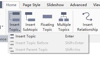 how to insert topics