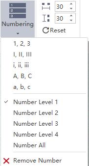 Establece la numeración en el mapa mental