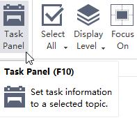 Abre el Panel de tareas MindMaster