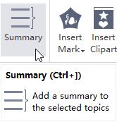 Insert Summary Button Mindmap