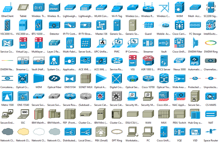 Server Diagram Icons