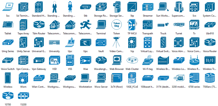 Microsoft Network Diagram Icons