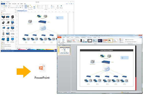 Create network diagram for ppt export network diagram to powerpoint ccuart Image collections