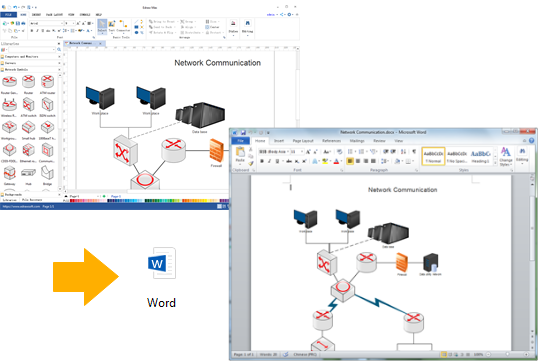 Create network diagrams for word network diagram export to word ccuart Images