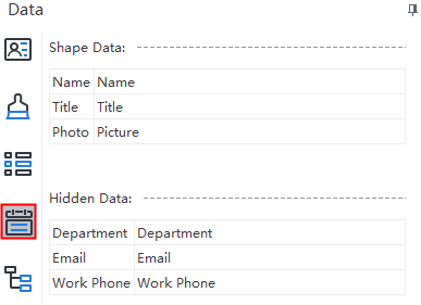 Display hiden data in a box of org chart