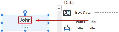 Edit data in org charts
