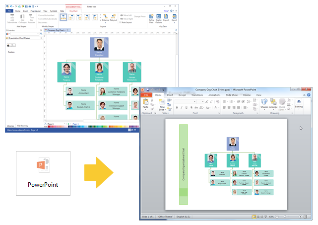 create organizational chart for ppt