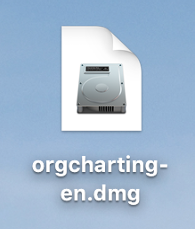 Double Click DMG file to install Orgcharting
