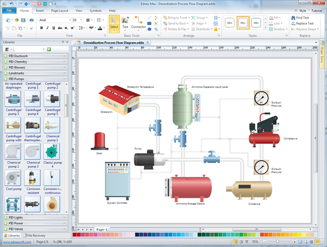 Hydronic piping diagrams refrigeration diagrams elsavadorla for Free office design software