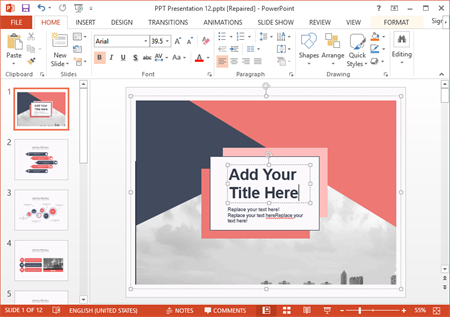 export presentation to powerpoint