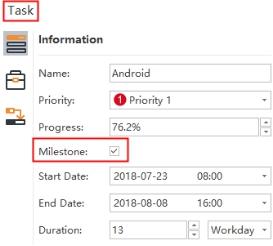 set task milestones