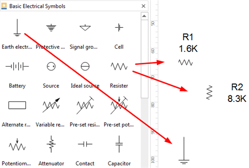 Add Symbols for Electrical Schematics