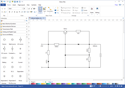 schematics maker create schematic diagrams easily rh edrawsoft com electrical schematic software open source electrical schematic creator online