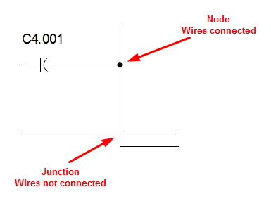 Junctions and Nodes in Electrical Schematics