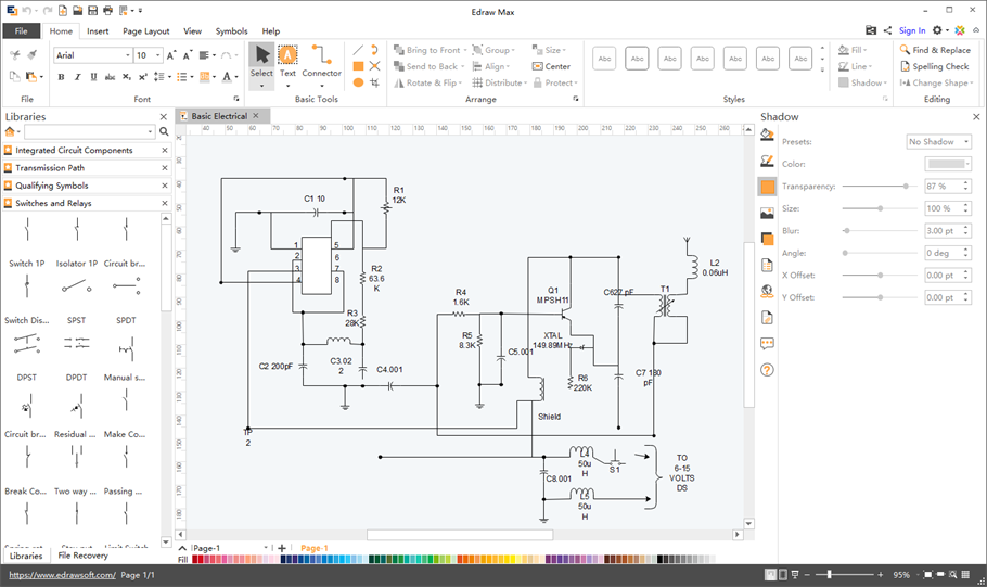 schematics maker create schematic diagrams easily rh edrawsoft com Basic Electrical Wiring Diagrams Basic Electrical Wiring Diagrams