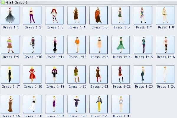 Girl Dress Symbols