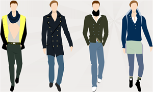 Exemples de design de vêtement homme