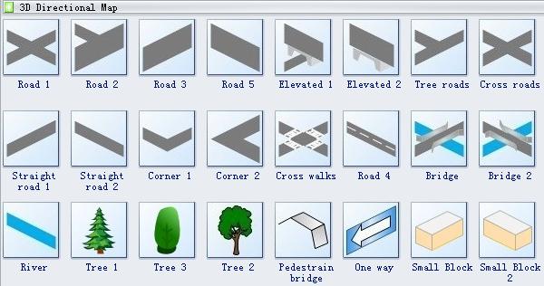 3D Directional Map Symbols