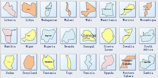 Africa Geo Map Symbols 2