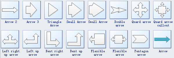 Arrows Diagram Symbols 2